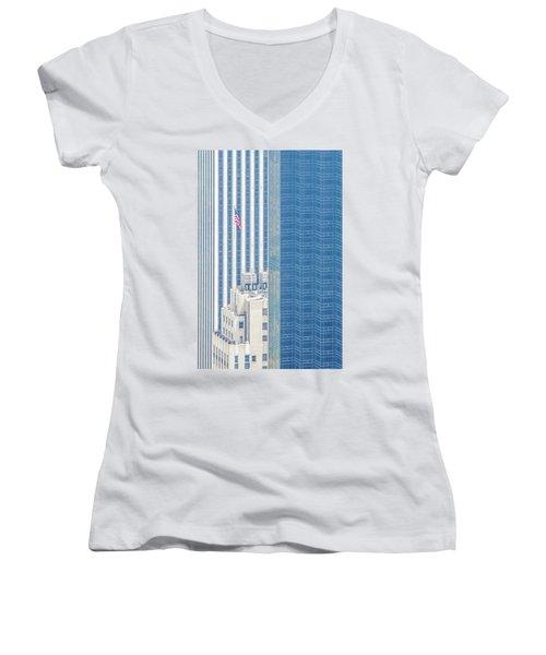 Raising The Flag Women's V-Neck T-Shirt (Junior Cut) by Az Jackson