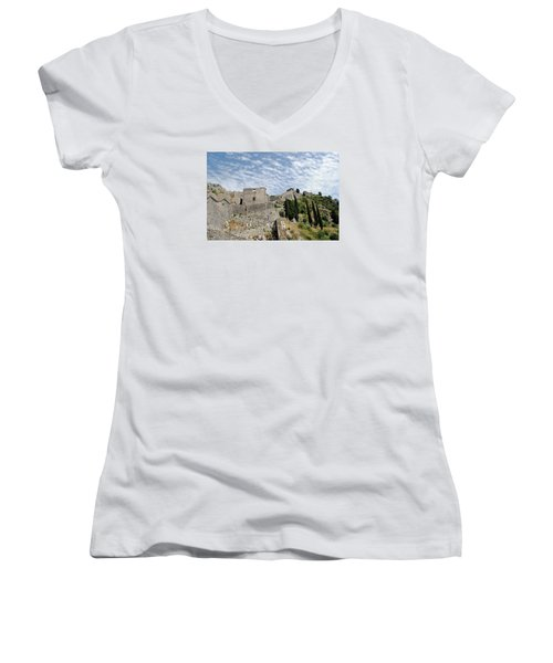 Ramparts Of Montenegro Women's V-Neck T-Shirt