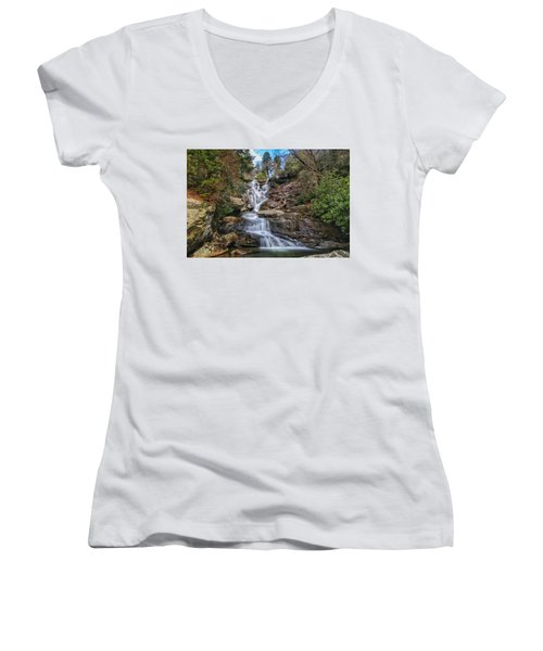 Ramsey Cascades - Tennessee Waterfall Women's V-Neck