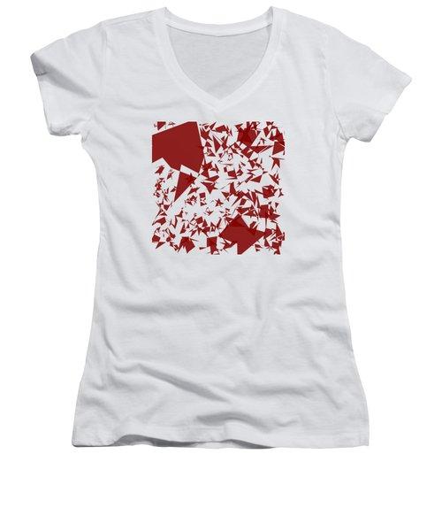 Random Shreds Women's V-Neck T-Shirt (Junior Cut) by Keshava Shukla