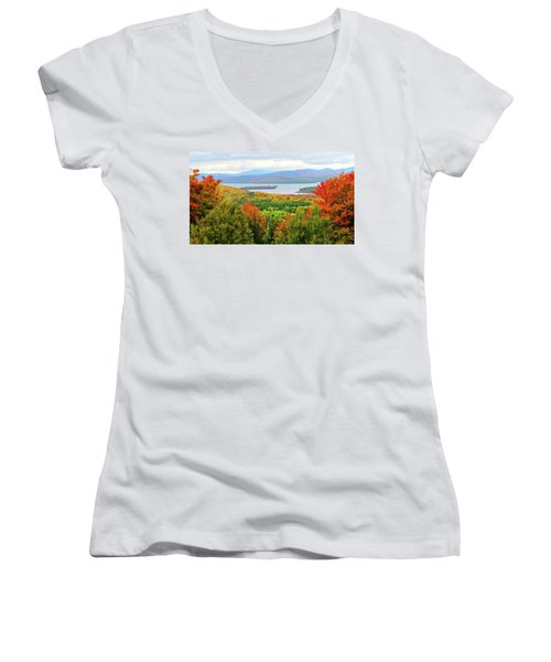 Rangeley Lake And Rangeley Plantation Women's V-Neck T-Shirt