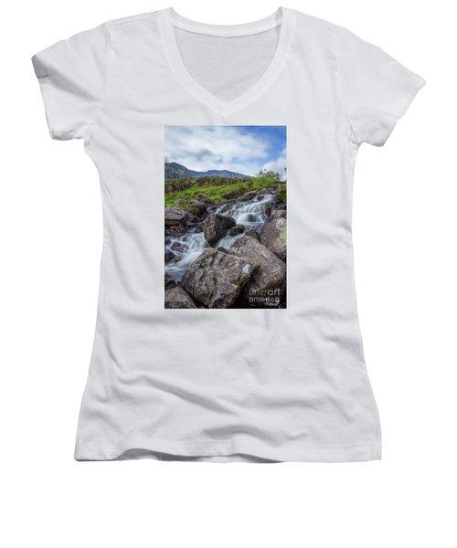 Rapids Of Snowdonia Women's V-Neck T-Shirt