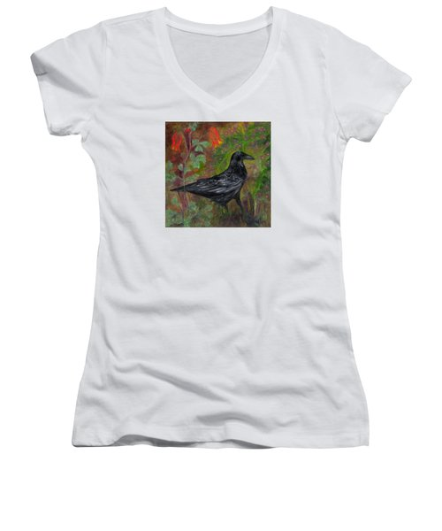 Raven In Columbine Women's V-Neck