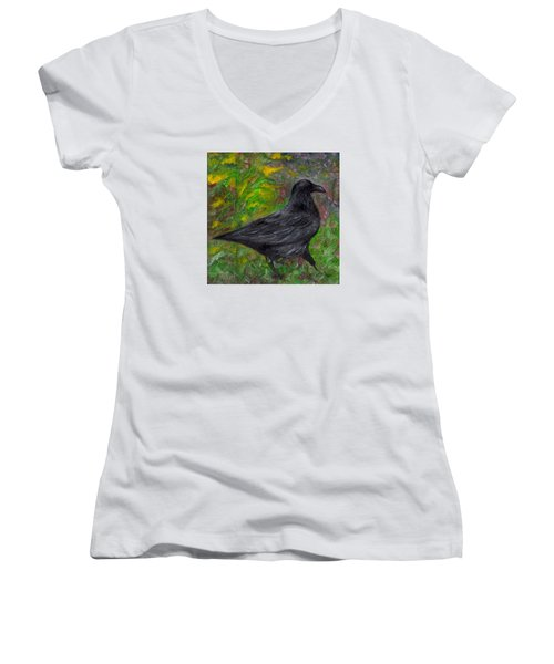 Raven In Goldenrod Women's V-Neck