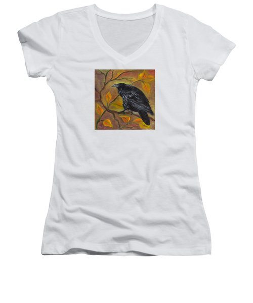 Raven On A Limb Women's V-Neck