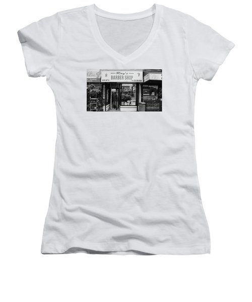 Ray's Barbershop Women's V-Neck (Athletic Fit)