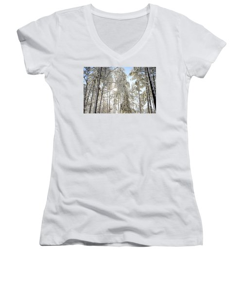 Reach For The Sky Women's V-Neck (Athletic Fit)