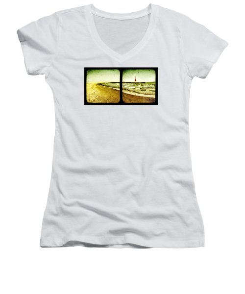 Reaching For Your Hand Women's V-Neck