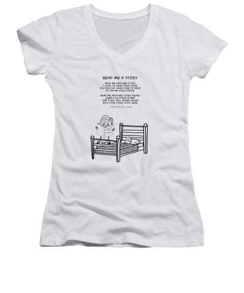Read Me A Story Women's V-Neck (Athletic Fit)