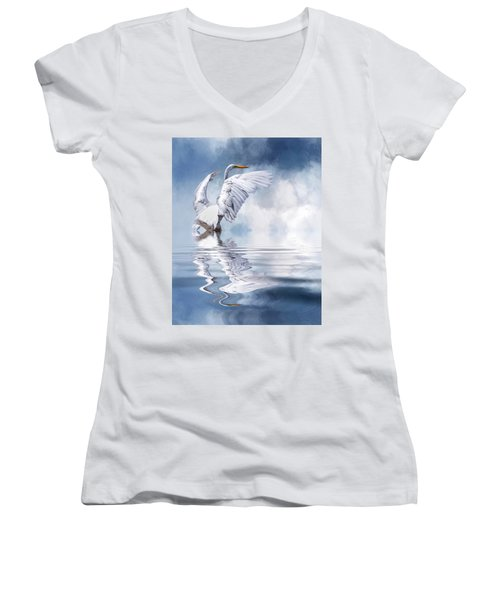 Ready For Take Off Women's V-Neck T-Shirt (Junior Cut) by Cyndy Doty
