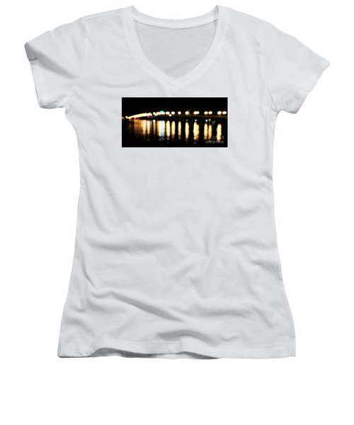 Bridge Of Lions -  Old City Lights Women's V-Neck