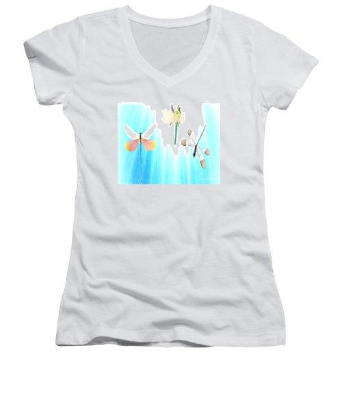 Realization Of Life Women's V-Neck T-Shirt (Junior Cut) by Belinda Threeths