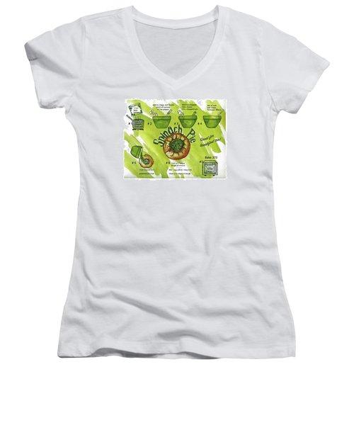 Recipe-spinach Pie Women's V-Neck