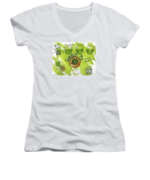 Recipe-spinach Pie Women's V-Neck (Athletic Fit)