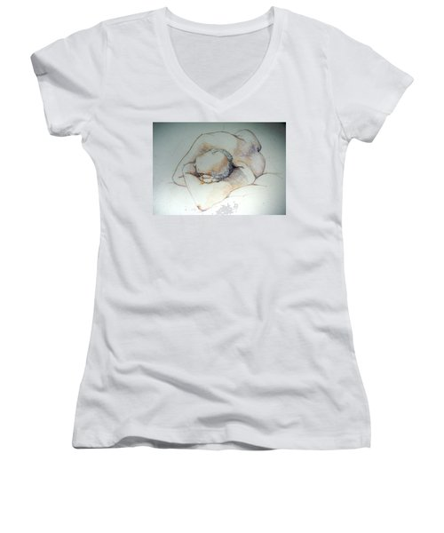 Reclining Study 3 Women's V-Neck
