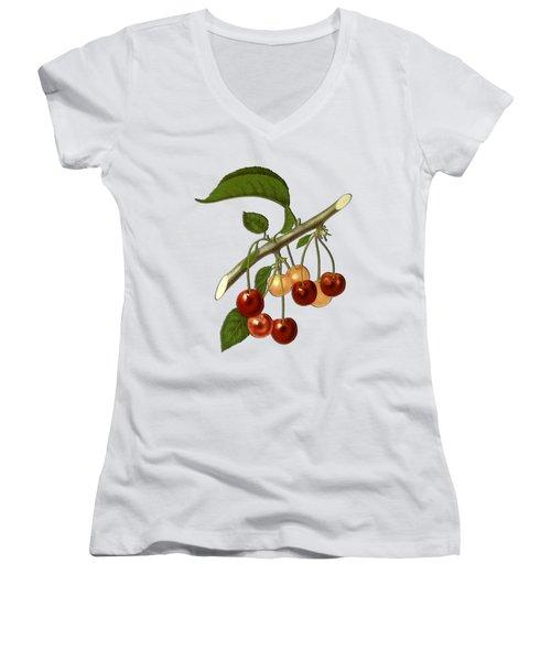 Red Cherries Women's V-Neck