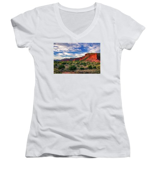 Red Cliffs Of Caprock Canyon Women's V-Neck