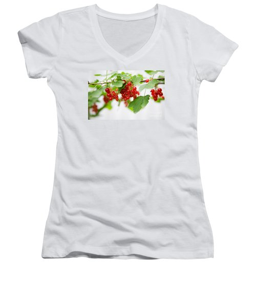 Red Currant Women's V-Neck T-Shirt