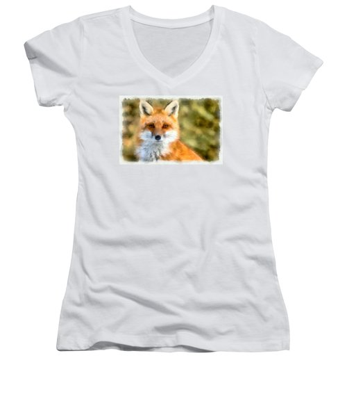 Red Fox Women's V-Neck T-Shirt