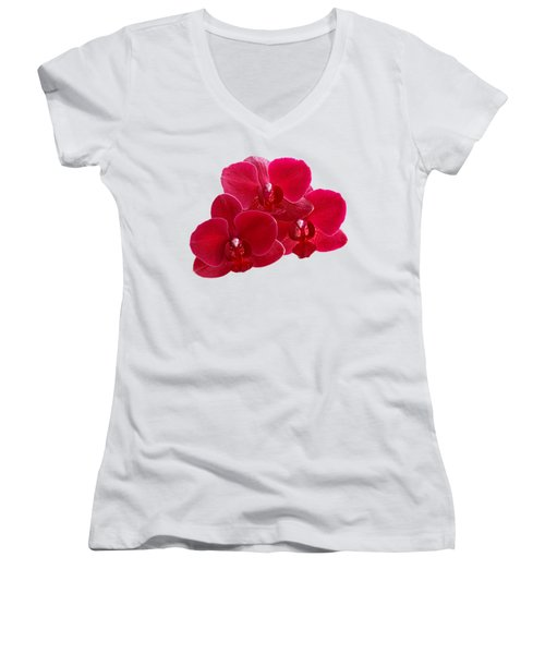 Red Orchid Trio Women's V-Neck