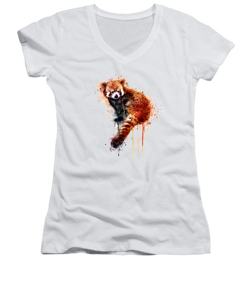 Red Panda Women's V-Neck (Athletic Fit)