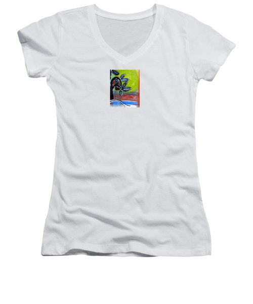 Red River Blossoms Women's V-Neck (Athletic Fit)