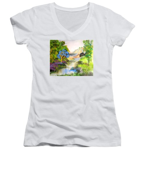 Redwood Creek  Women's V-Neck T-Shirt