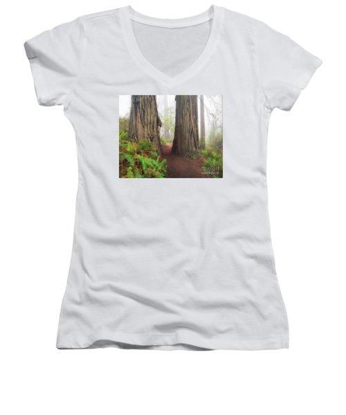 Redwood Trail Women's V-Neck T-Shirt