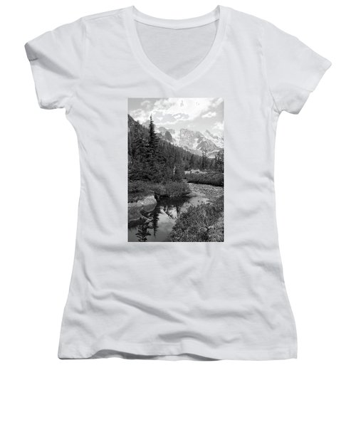 Reflected Pine Women's V-Neck