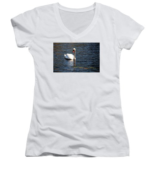 Reflecting Swan Women's V-Neck