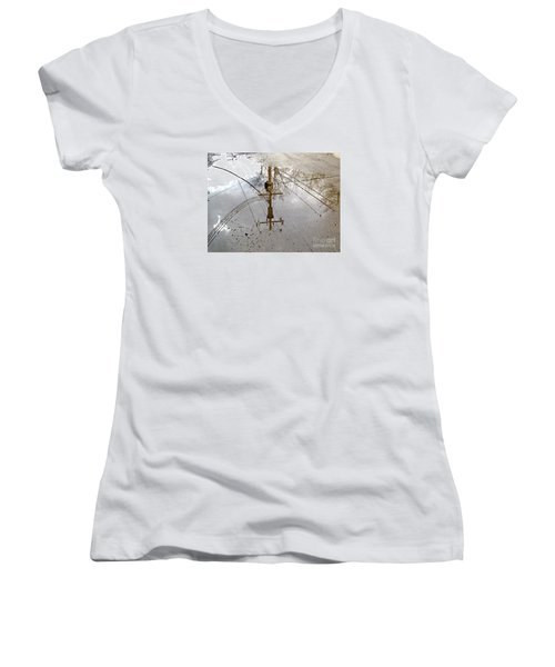 Puddle Reflections  Women's V-Neck T-Shirt