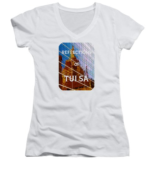 Reflection Of The Past - Tulsa Women's V-Neck T-Shirt