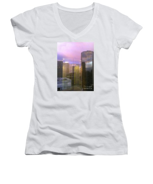 Reflections Looking East Women's V-Neck