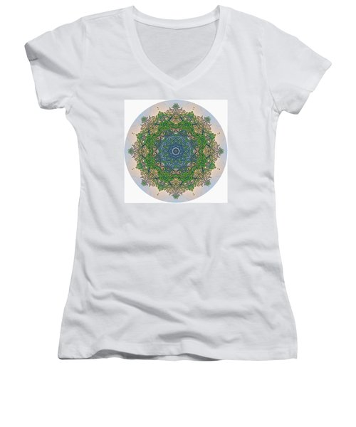 Reflections Of Life Mandala Women's V-Neck (Athletic Fit)