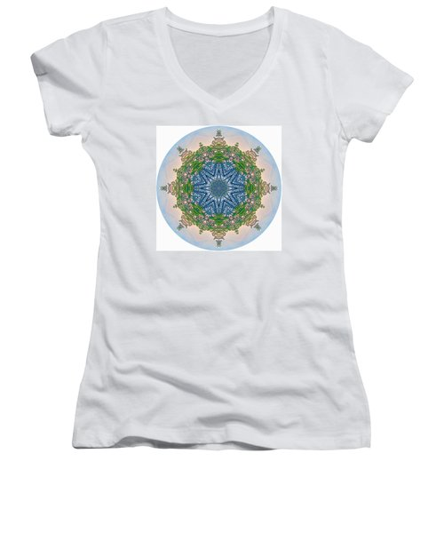 Reflections Of Life Mandala 2 Women's V-Neck (Athletic Fit)