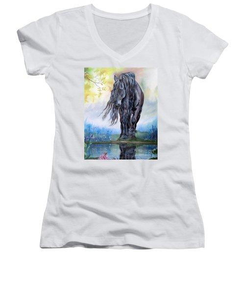 Reflective Beauty Women's V-Neck T-Shirt