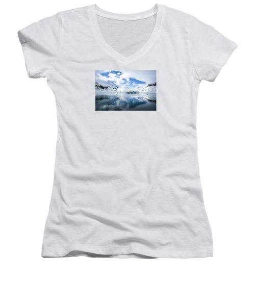 Reid Glacier Glacier Bay National Park Women's V-Neck