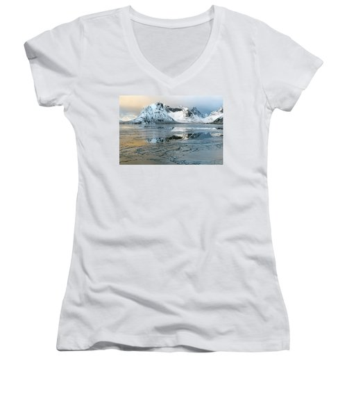 Reine, Lofoten 5 Women's V-Neck T-Shirt