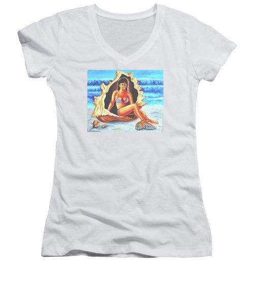 Relax Women's V-Neck T-Shirt (Junior Cut) by Ragunath Venkatraman