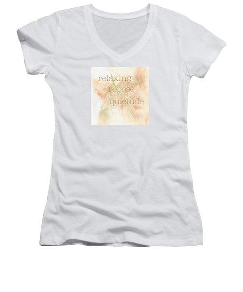 Relaxing Women's V-Neck T-Shirt