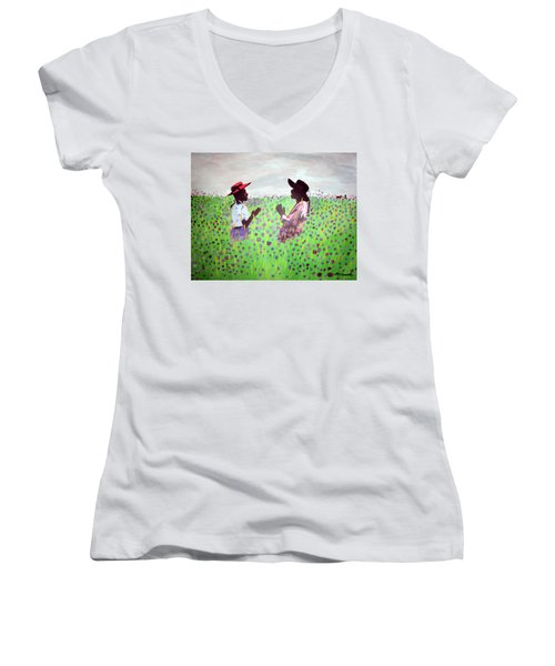 Remember Way Back When Women's V-Neck (Athletic Fit)