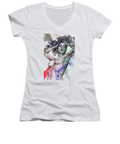 Remembering Days Of Yore Women's V-Neck T-Shirt
