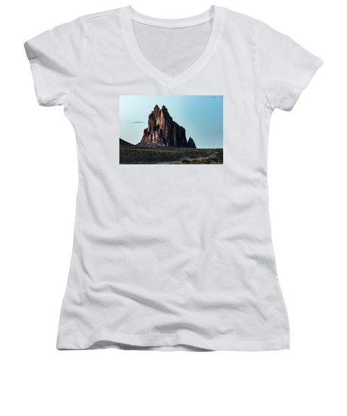 Remote Yet Imposing Women's V-Neck T-Shirt