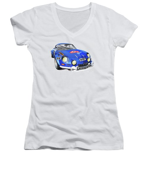 Alpine Renault A110 Women's V-Neck (Athletic Fit)