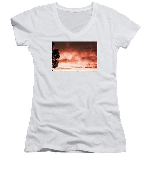Reno Sky Women's V-Neck T-Shirt (Junior Cut)