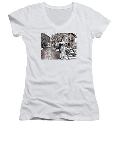 Renoir In Stokholm Collage Renoir Women's V-Neck T-Shirt