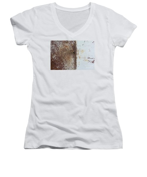 Women's V-Neck T-Shirt (Junior Cut) featuring the photograph Repaint Number Eight by Brian Boyle