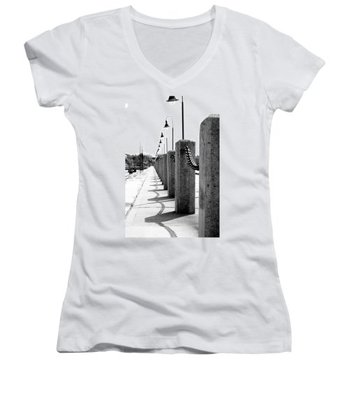 Repetition Women's V-Neck T-Shirt (Junior Cut) by Greg Fortier