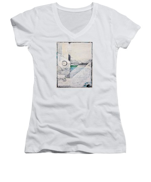 Reservoir  Women's V-Neck T-Shirt (Junior Cut) by Cliff Spohn