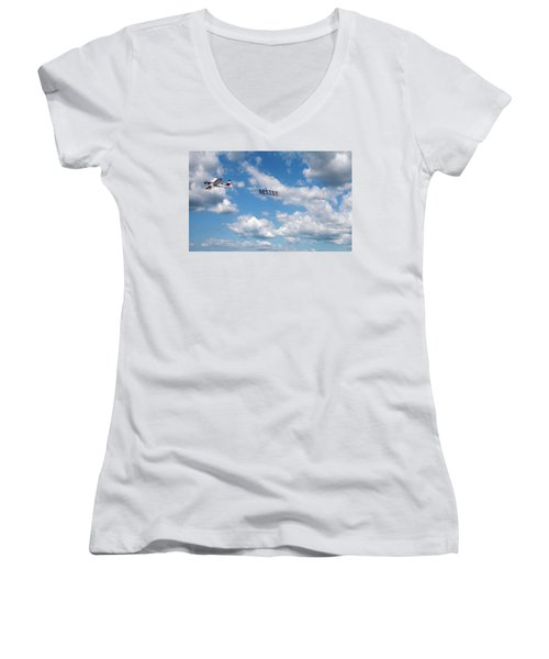 Resist Airplane Women's V-Neck